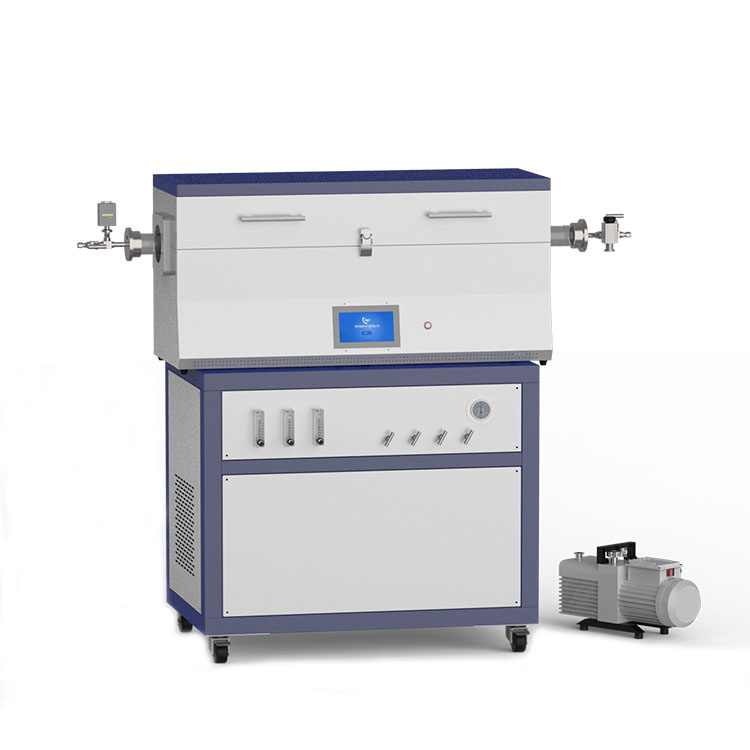 1200℃ three heating zone low vacuum CVD system with 3-channel float flow meter to supply gas CY-O1200-50IIIT-3F-LV