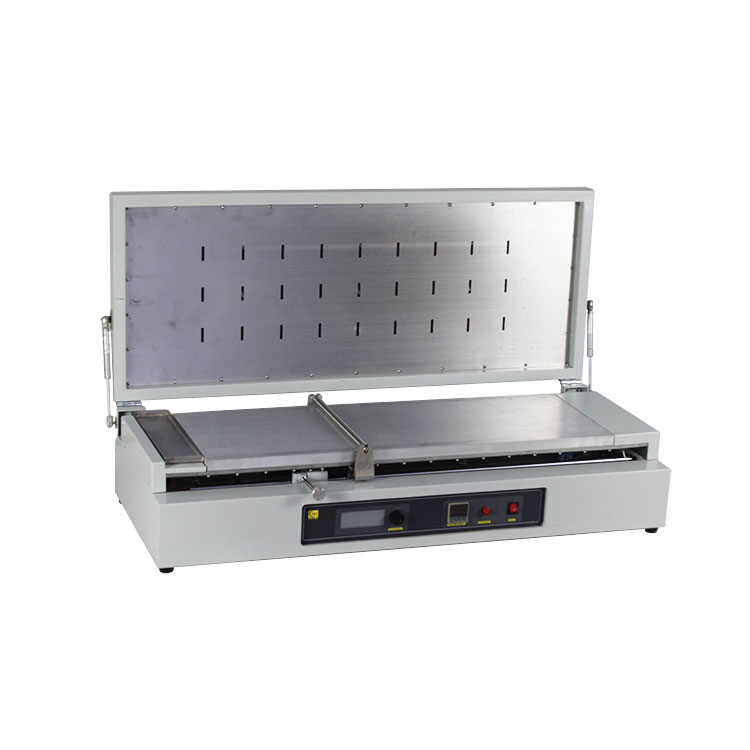 Compact automatic tape casting coater with heated vacuum bed