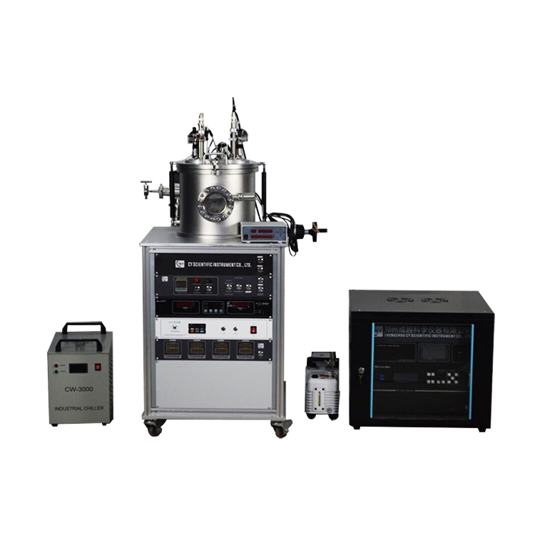 Lab DC magnetron sputter coating machine with a 2-inch target source