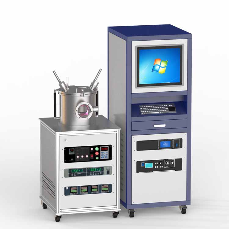 DC/RF dual-head high vacuum magnetron plasma sputtering coater