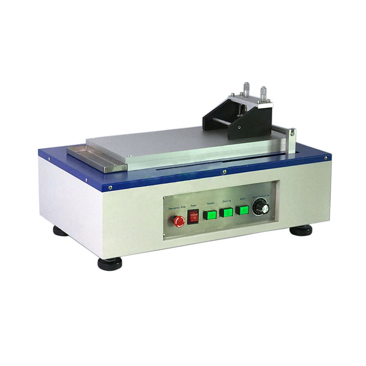 Large automatic film coater with glass bed