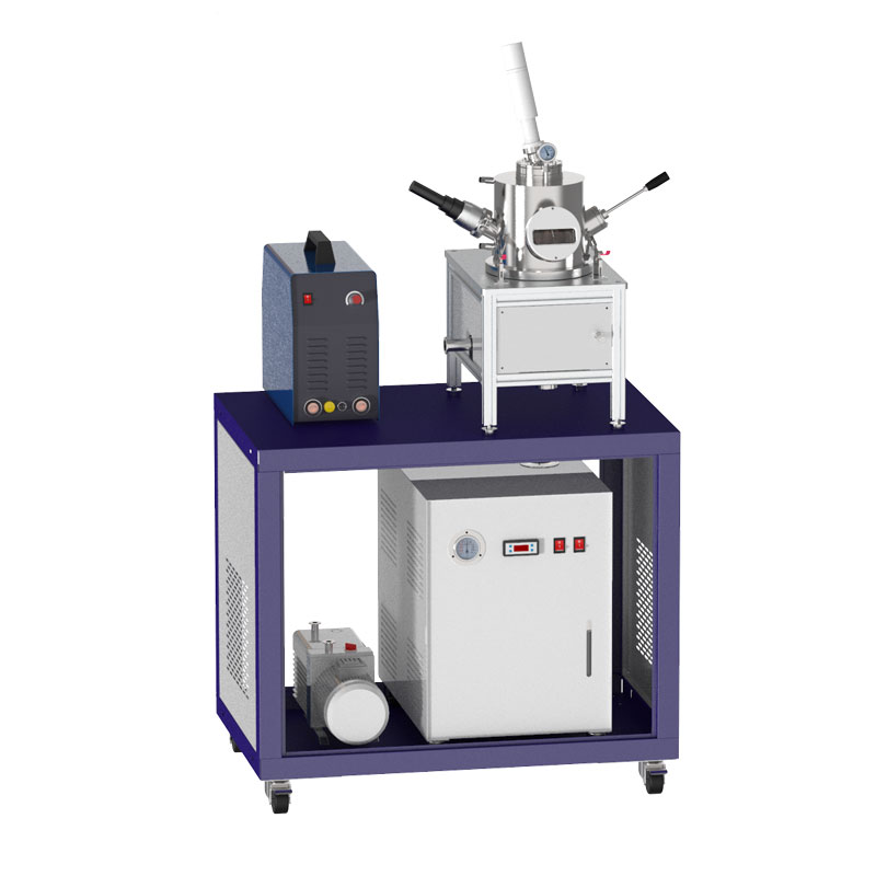 Non-self-consuming metal melting suction casting furnace