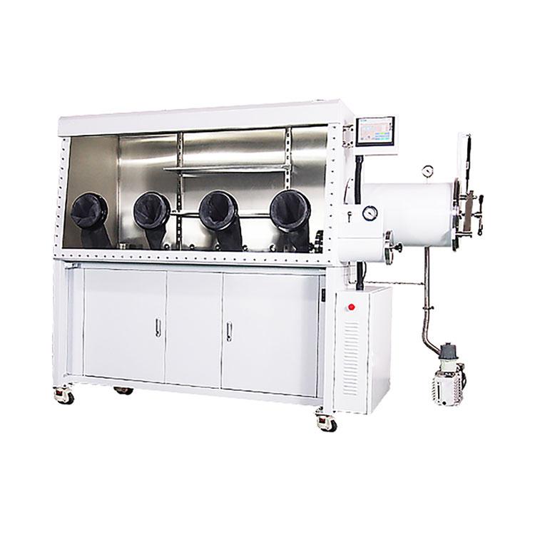 Single-sided double-station laboratory vacuum glove box