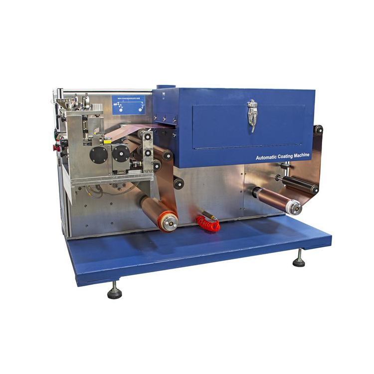 Compact automatic battery electrode coating system