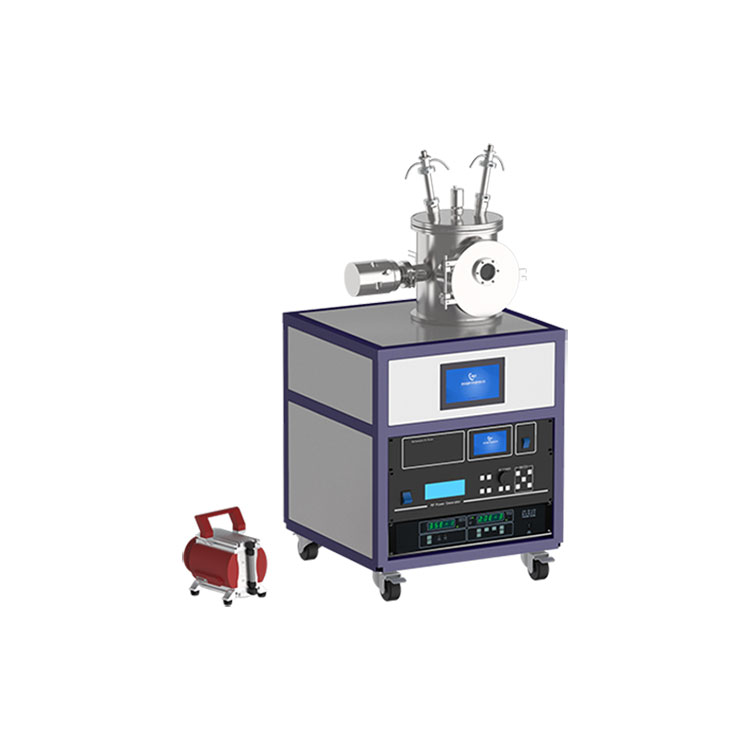 Small double sputter source magnetron sputtering coater