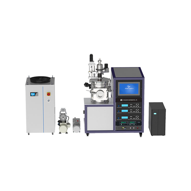 Three sputter sources magnetron sputtering coater with UPS