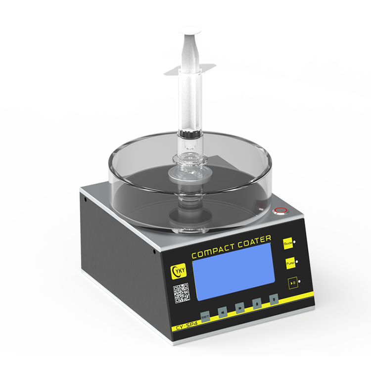Small spin coater with center dispensing hole