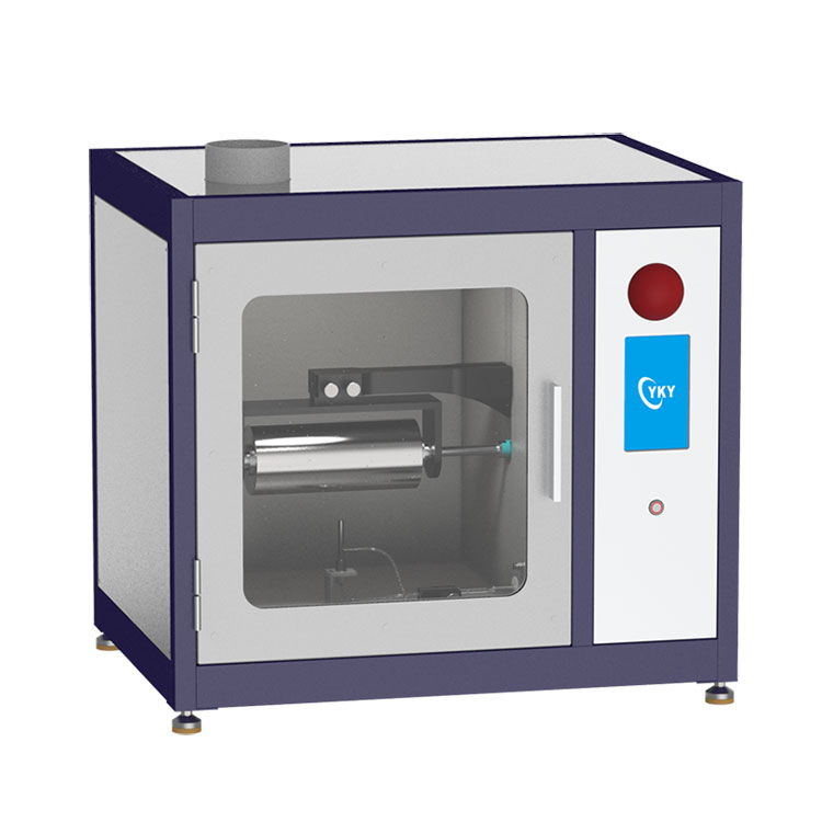 High-voltage electrospinning machine with coaxial nozzle and drum collector