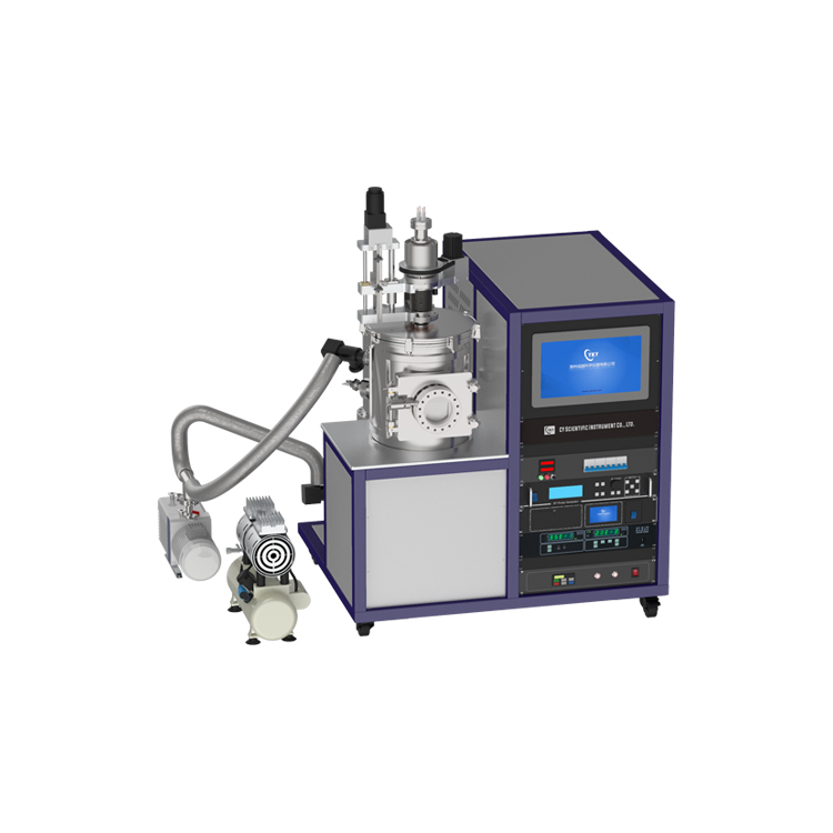 Dual target magnetron sputtering and thermal evaporation composite coating machine