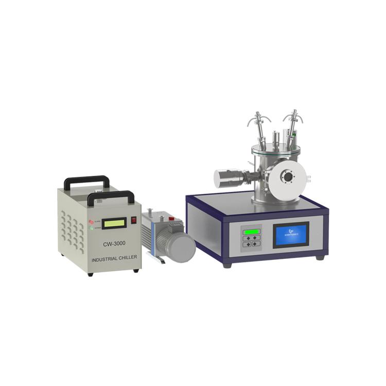 Desktop double head magnetron sputtering coating machine
