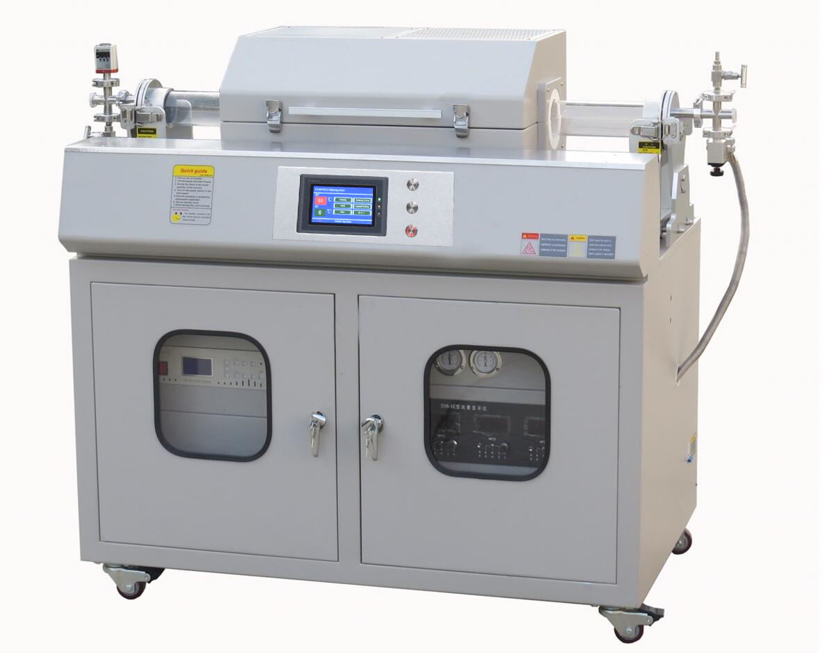 Sliding 1200 degree Tube Furnace with three gas mixer,vacuum pump for CNT Preparation