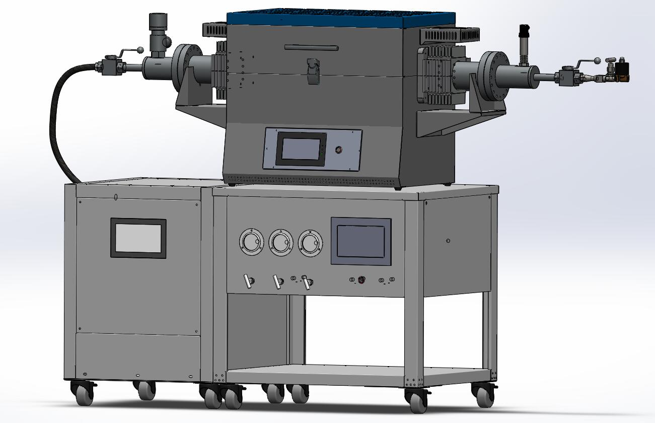 Laboratory High Pressure &Temperature Tube furnace with Three Gas way mixer-CY-FH-S150