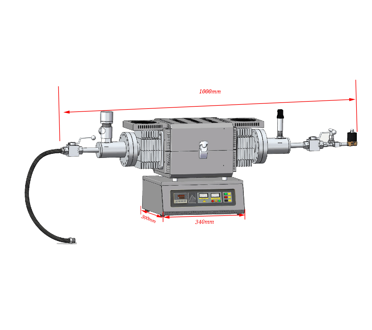 Laboratory Compact High Pressure Gas Tube Furnace (HIP) with Super alloy tube-CY-O1200S-HP