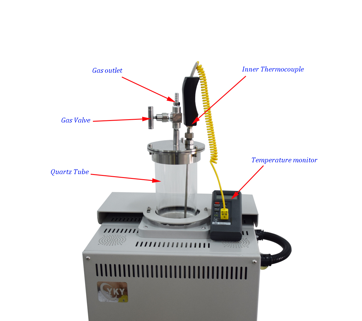 Laboratory 1200℃ Vacuum Vertical Tube Furnace for Fluidized Bed-CY-V1200-60IT
