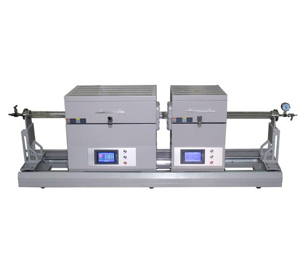 1200℃ Dual Zone Multi Function Sliding Tube Furnace for MoS2 film Preparation-CY-O1200-50IIT-XS