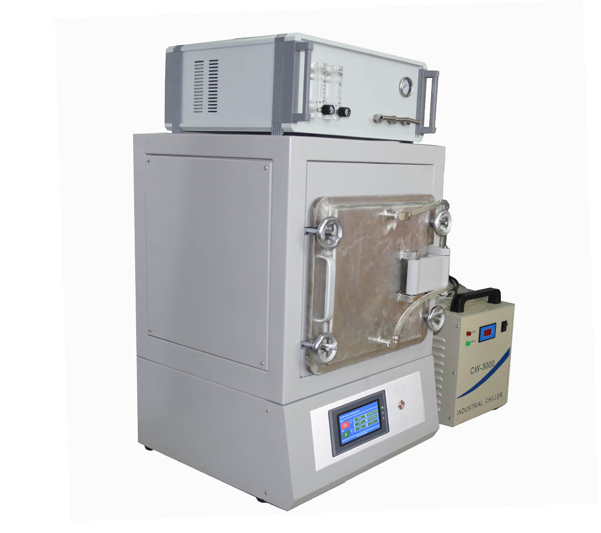 Atmosphere controlled muffle furnace with FFC gas mixer and water chiller-CY-A1600-8IC-2FW