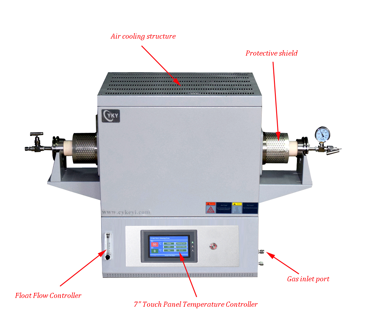 Laboratory 1700℃ Compact Corundum Tube Furnace with 170mm heating zone CY-T1700-50ITS