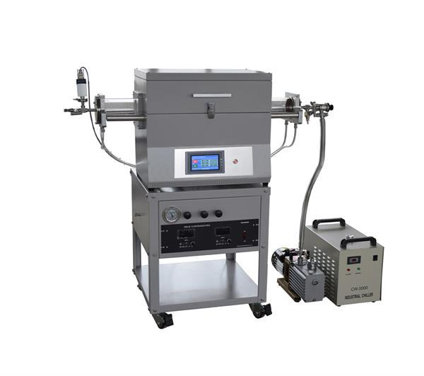 Laboratory CVD Furnace with water cooling flange and two gas way mixer CY-O1200-50IT-2Z10V