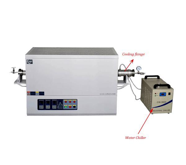 Laboratory 1200℃ heat treatment three zone tube furnace with water cooling flange-CY-T1200-50IIIC