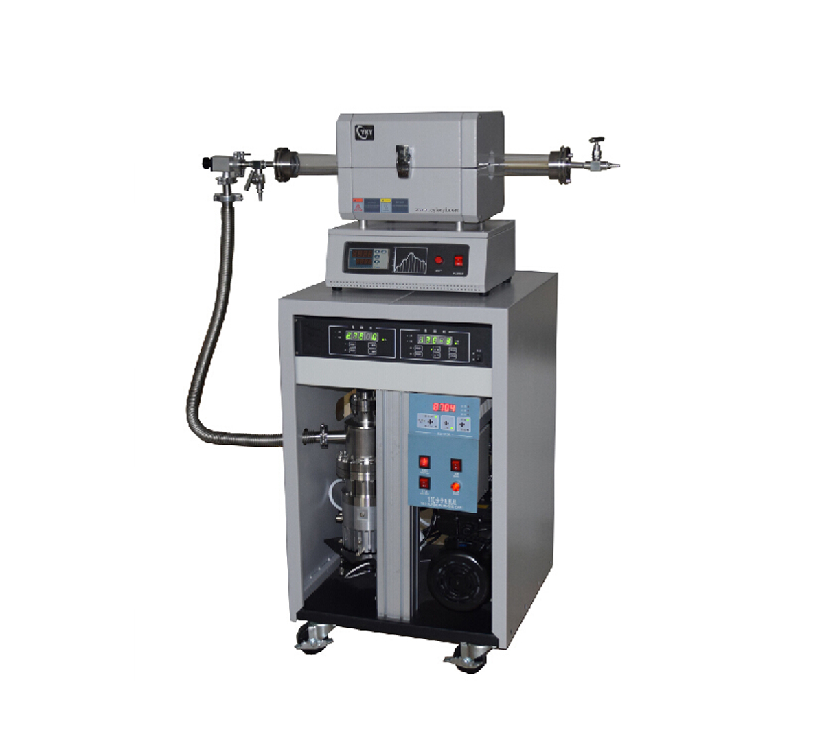 Laboratory 1200℃ High Temperature High Vacuum Tube Furnace CY-O1200S-GZK110