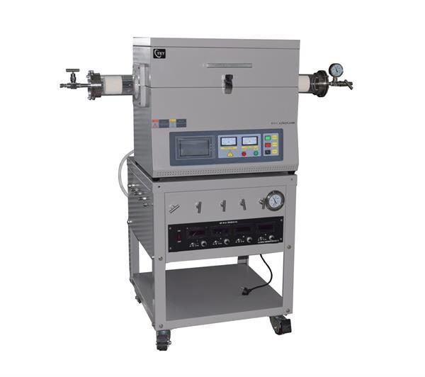 Laboratory 1200°C CVD Tube Furnace with 4 Channel MFC Gas Mixer and Vacuum Pump CY-O1200-60IT-4Z10V