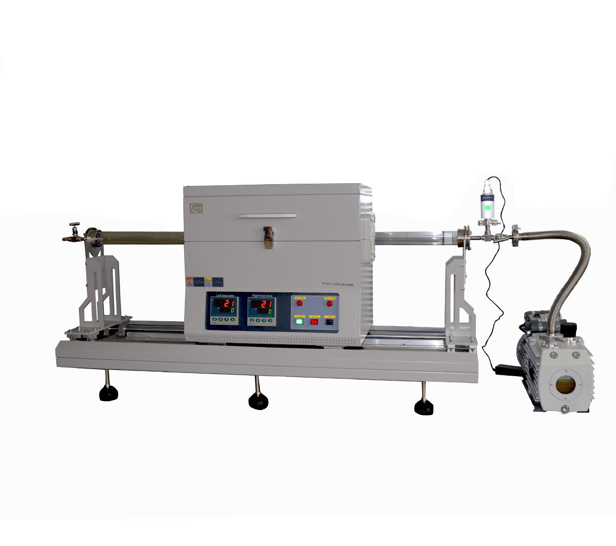 Laboratory cvd mos2 thin film preparation sliding two zone rtp tube furnace CY-O1200-50IIC-RTP