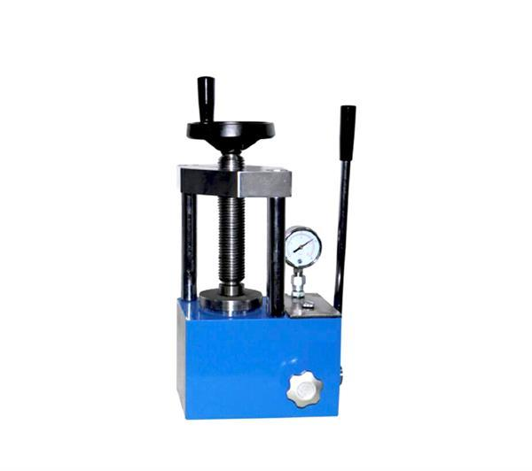 12T manually powder hydraulic press with pointer pressure gauge