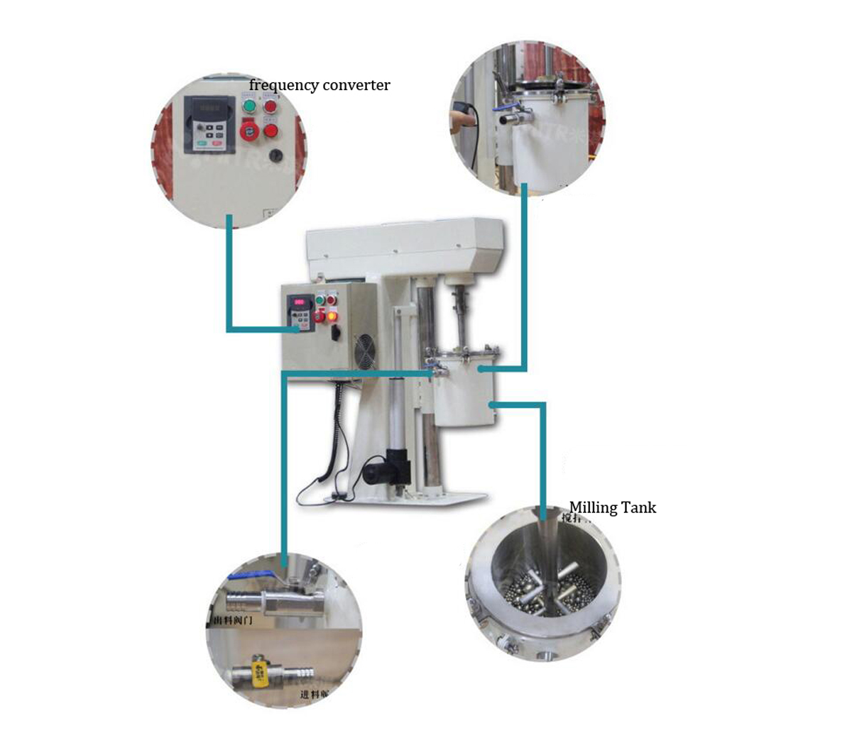 Programmable Rotor Mill with 5L Stainless Steel Tank and Water Cooling Jacket CY-SFM-5