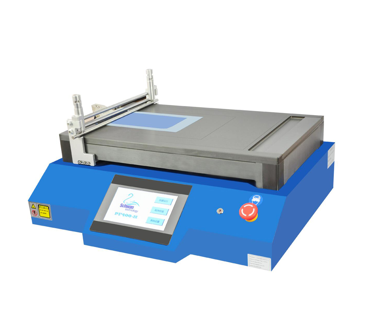 "Automatic Film Coater with 13""W x 21""L Glass Bed with 420mm Adjustable Doctor Blade CY-PF400-H"