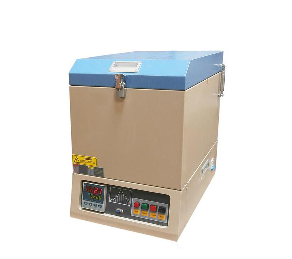 """Vertical Crucible Furnace with 9.5""""Dia x 8.6""""H Chamber with PID Programmable Controller CY-VBF-1200X"""