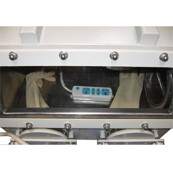 """Benchtop Vacuum Glove Box (31""""X 26"""" X 28"""") with Airlock and Vacuum Flange & Gauge - Cy-Vgb-3"""