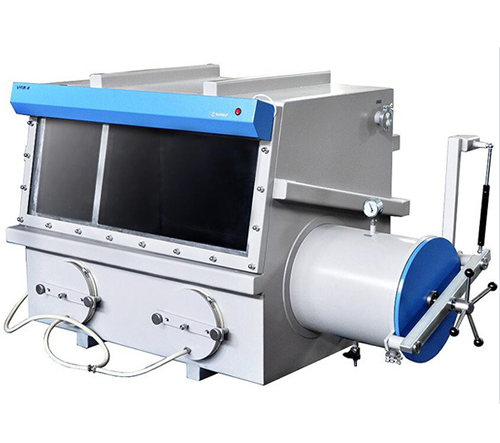 """Large Stainless Steel Vacuum Glove Box (Chamber Size: 44""""X29""""X35"""") with Airlock Chamber"""
