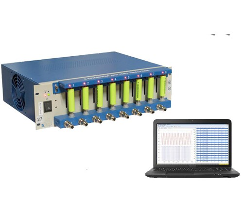 8 Channel Battery Analyzer (6-3000 mA, up to 5V) with Software