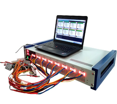 8 Channel Battery Analyzer (10mA -5000 Ma, Upto 5V W/ Temperature Measurement and Laptop & Software