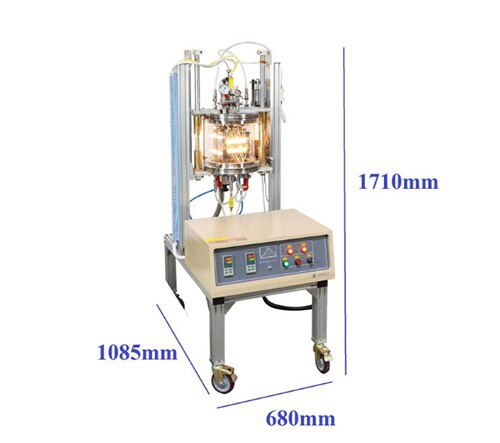 "Two Zones Css Furnace for Rapid Thermal Processing Upto 5"" Dia Wafer at Max. 800c"