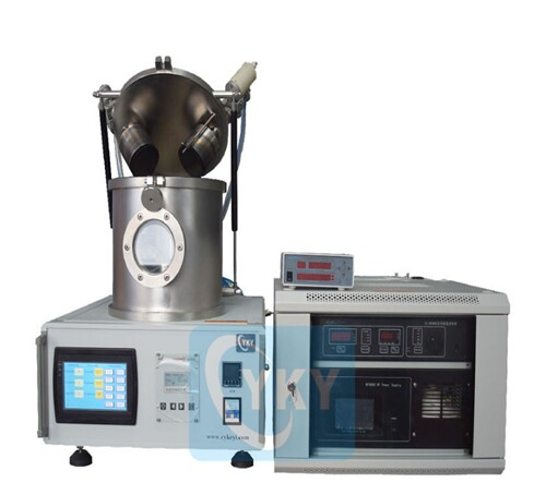 "DC/RF Dual-Head High Vacuum 2"" Magnetron Plasma Sputtering Coater"