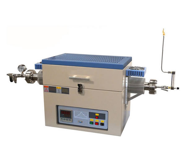 Two Zone 1200°C Max. 80 mm OD Tube Furnace with Liquid Evaporator, Humidity & H2 Detectors and Shutoff Valve