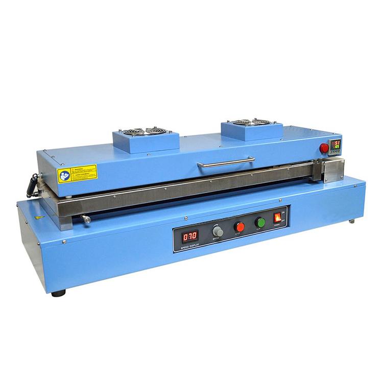 Heated vacuum doctor-blade film coater