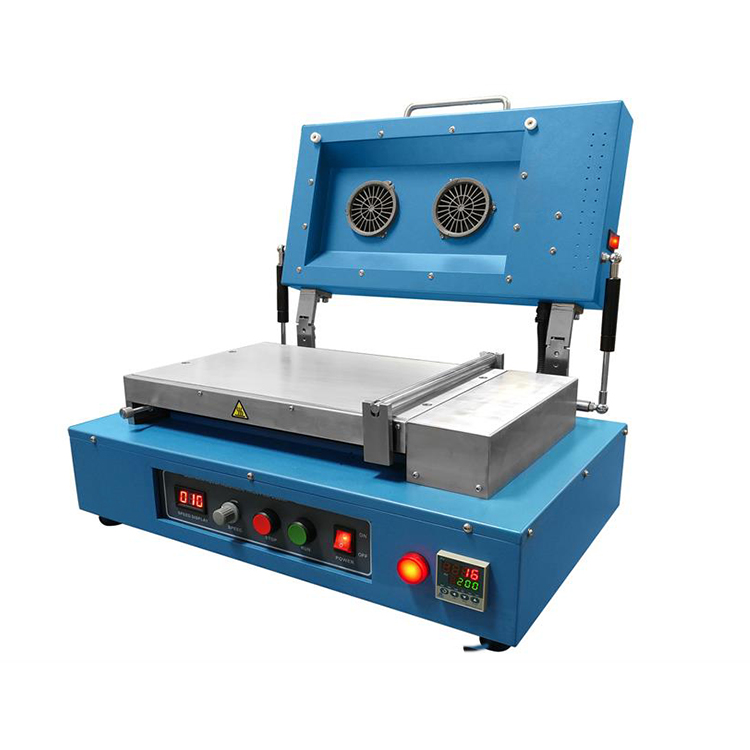 Compact laboratory bottom heating type casting coater