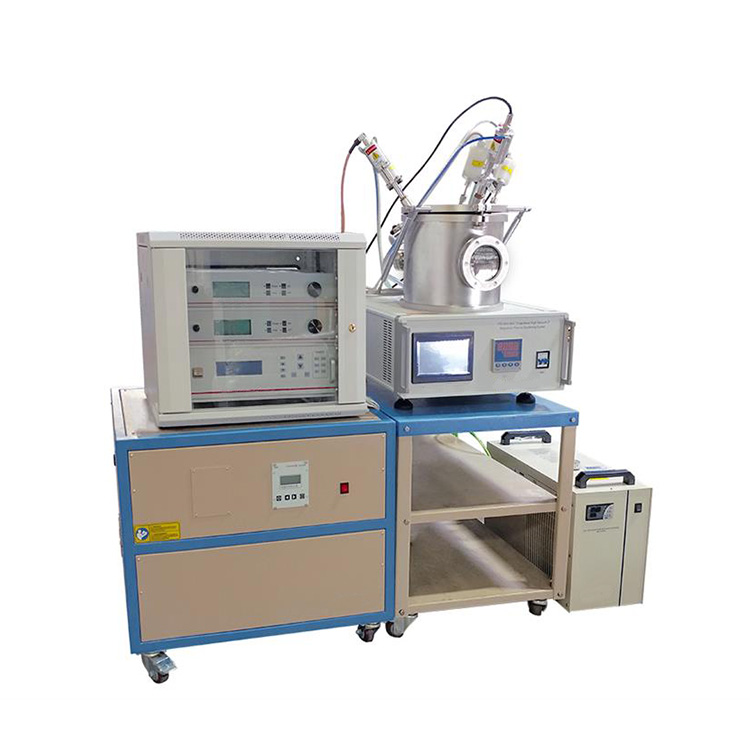 Combinatorial plasma sputtering coater with 3 magnetron sputtering sources