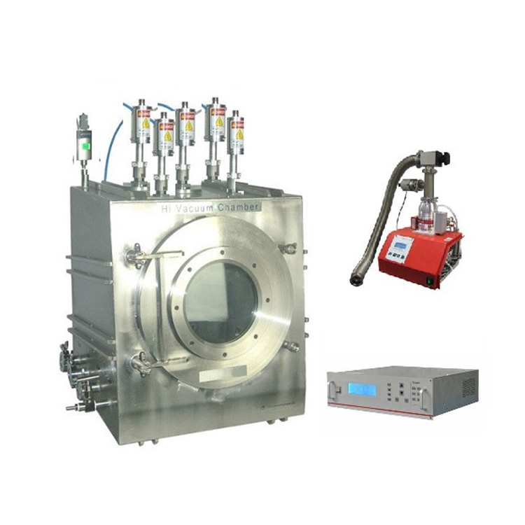 Customized 5 heads RF plasma magnetron sputtering coater