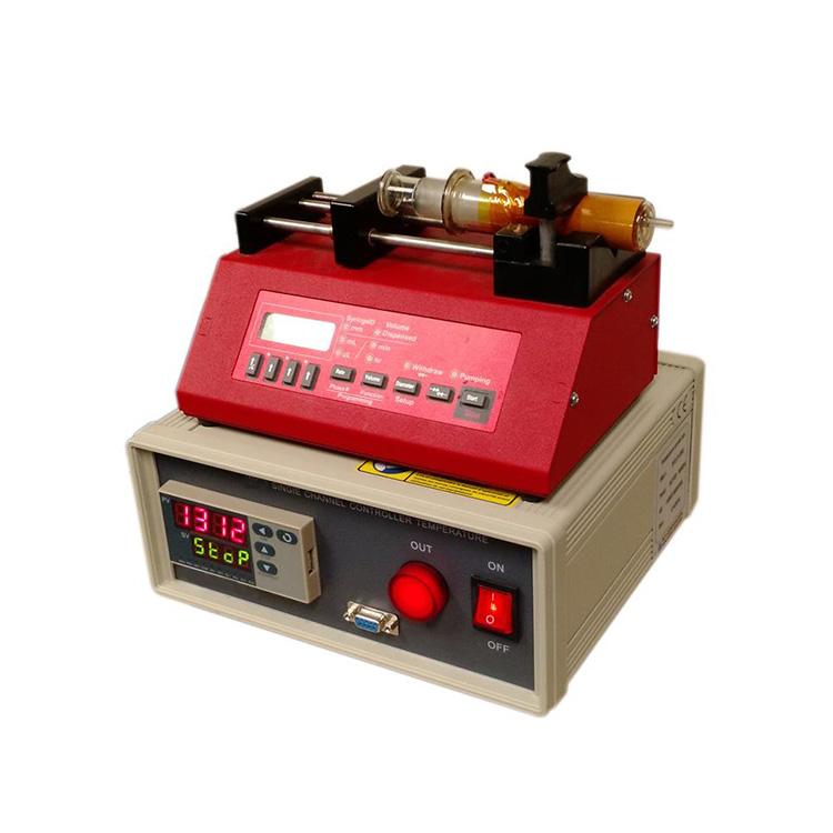Digital controlled heatable syringe pump