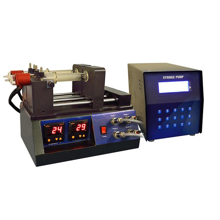 Multi-channel heatable syringe pump