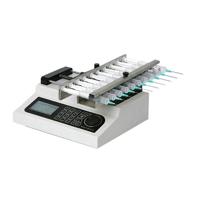 High precision 10-channel micro laboratory syringe pump