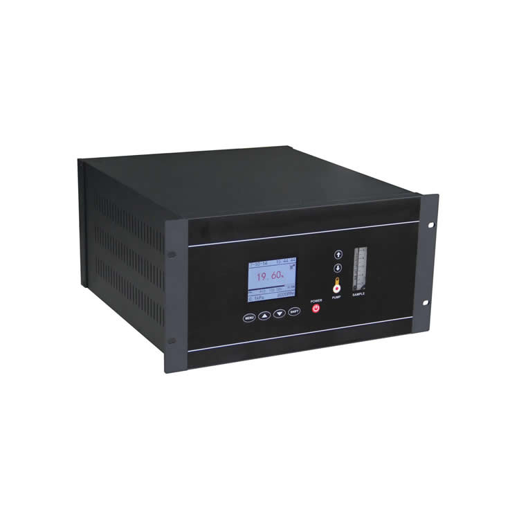 Online close-loop control oxygen analyzer