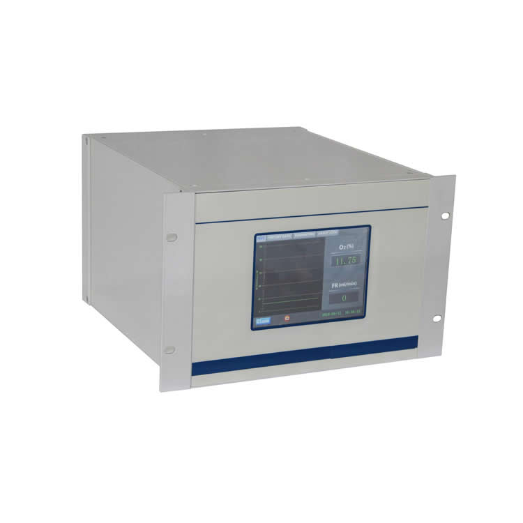 Online paramagnetic oxygen analyzer