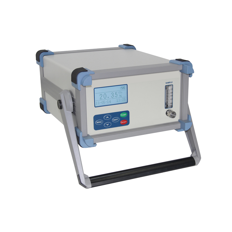 Portable purity oxygen analyzer
