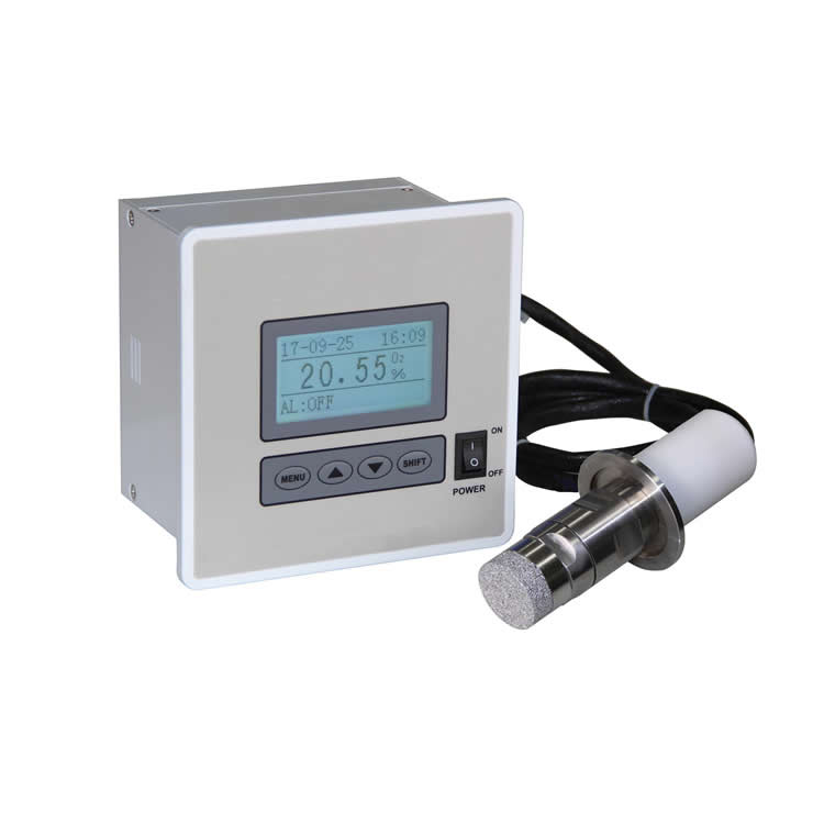 Split type trace oxygen analyzer