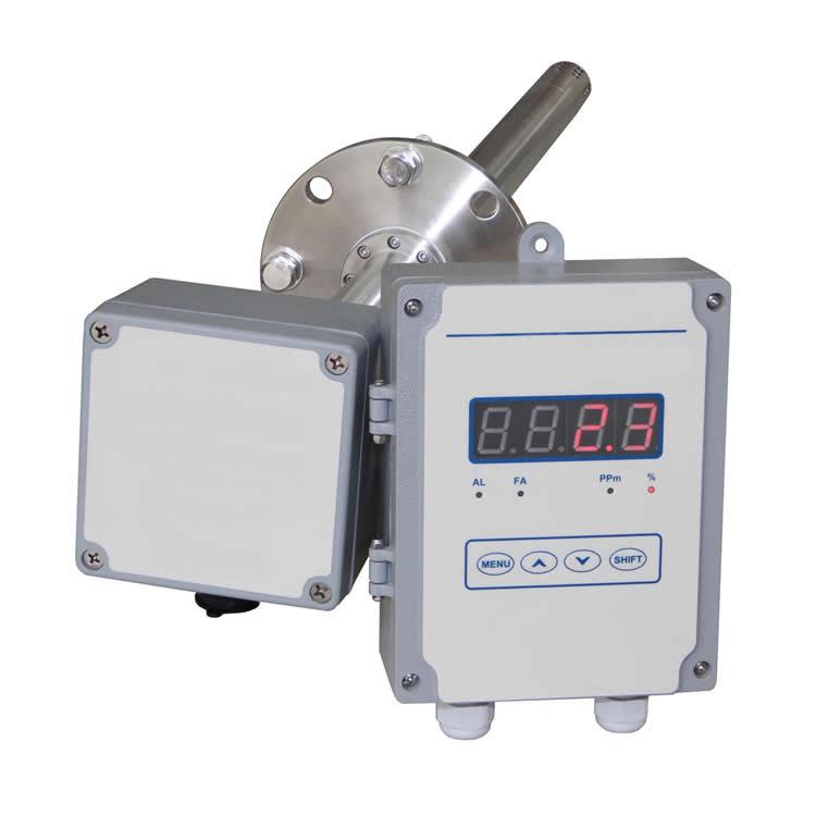 Split type flue oxygen analyzer
