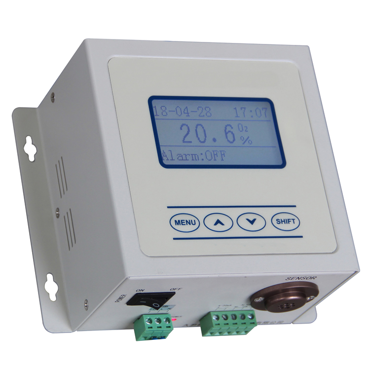 Ion current oxygen monitor